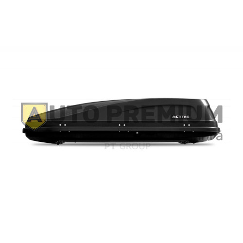 Автобокс на крышу Черный ACTIVE M (450 л) Аэродинамический с двусторонним открыванием